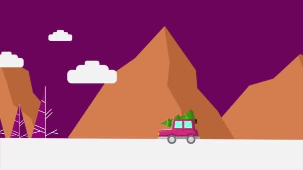 Animaci Truck přinášejí strom Vánoční kolekce