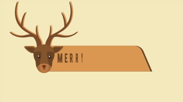 Animace jelenů Vánoce Veselé Vánoce kolekce