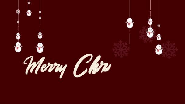 Sníh animace lidí. Veselé Vánoce a šťastný nový rok kolekce