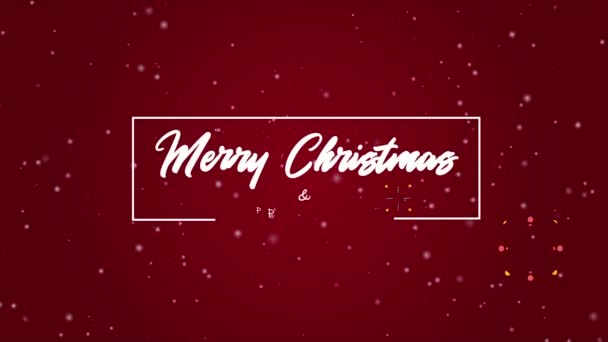 Pozdrav animace Veselé Vánoce a šťastný nový rok kolekce
