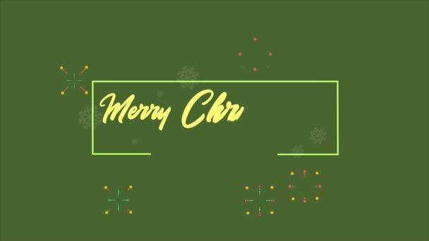 Ohňostroj styl animace pro sbírku den Veselé Vánoce