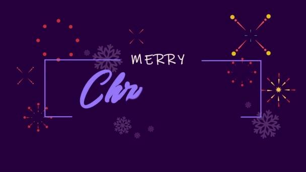 Veselé vánoční pozdrav animace s kolekce pozadí ohňostroj