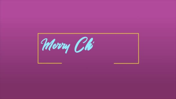 Veselé vánoční pozdrav s ohňostroj animace kolekce