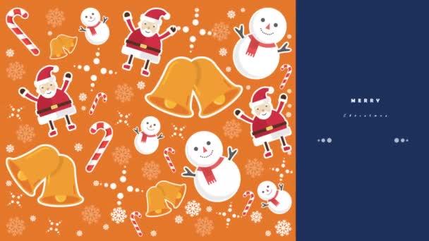 Felvétel, hóember, a Mikulást, a harangok és a édességet vesszők a Merry Christmas-gyűjtemény