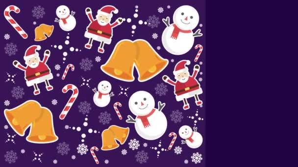 Sněhulák, Santa Clause, zvony a candy hole pro Veselé Vánoce kolekce