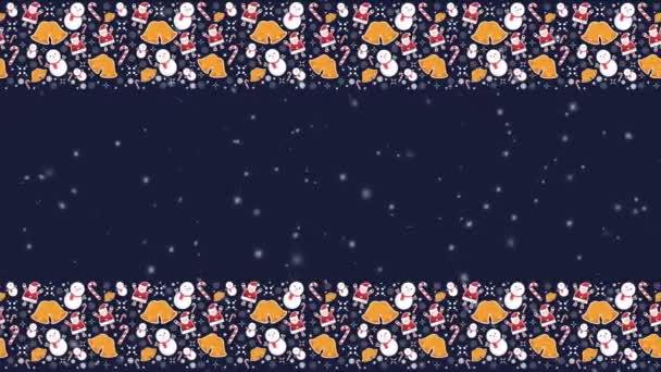 Sníh pozadí animace pro Veselé Vánoce kolekce