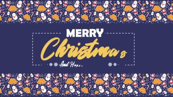 Boldog karácsonyt hóember, Mikulás, harangok és candy bot animáció gyűjtemény