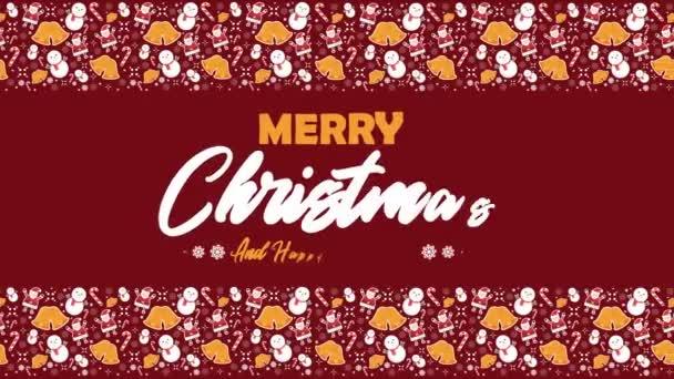Boldog karácsonyi üdvözlő animáció hóember gyűjtemény