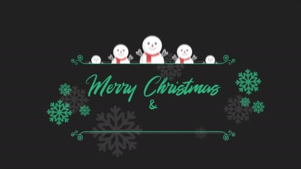Vidám karácsony háttérben animáció hóember gyűjtemény