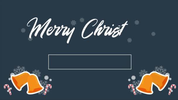 Veselé Vánoce s animace dvě zvon Vánoční kolekce