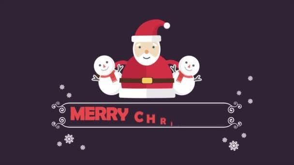 Boldog karácsonyi animáció a hóember, és Télapós