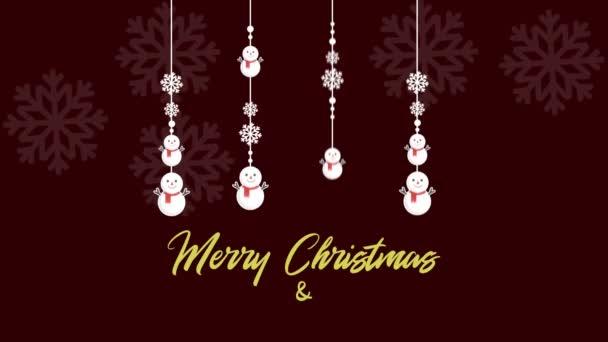 Veselé vánoční pozadí záběry s sněhuláka kolekce