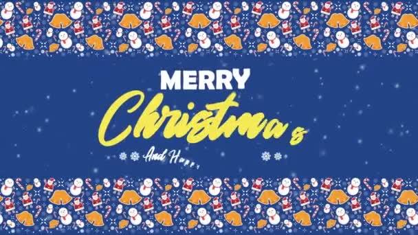 Animace sněhulák pro přání Veselé Vánoce kolekce