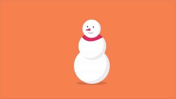 Animáció karakter hóember mozgás ajándék karácsonyi gyűjtemény