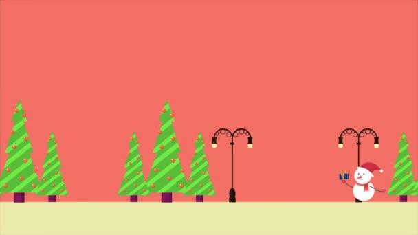 Animációs mozgás a hóember gyűjtemény karácsonyi ajándék
