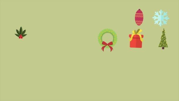 Veselé Vánoce s ornamenty vánoční metráž kolekce