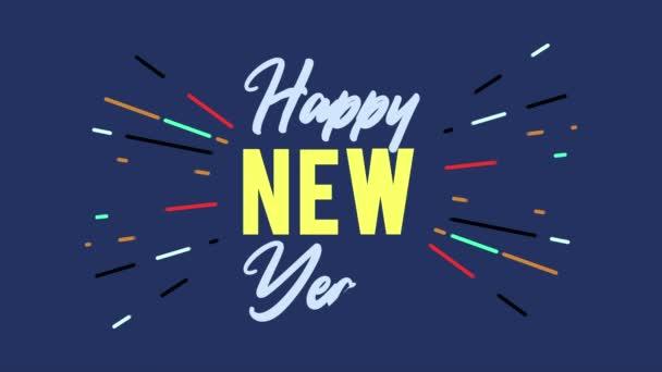 Boldog új évet üdvözlő animáció tűzijáték gyűjtemény