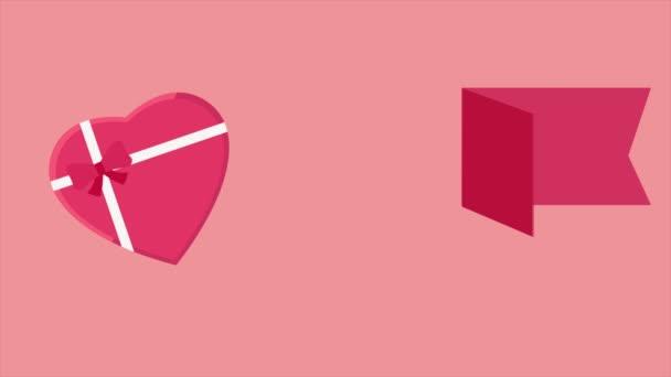 Boldog Valentin napot animáció ajándék doboz love-gyűjtemény