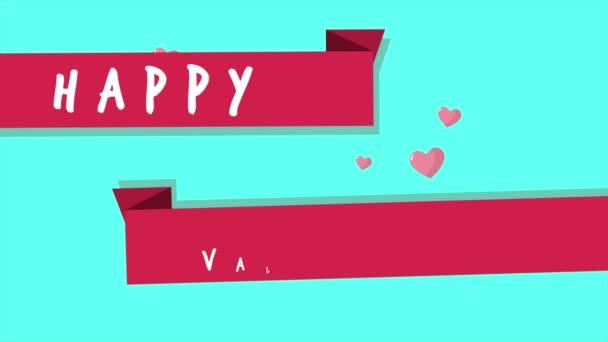 Šťastného Valentýna s animace pásu kolekce