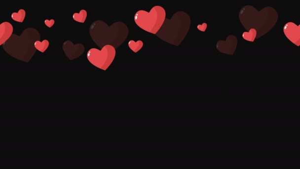 Animation of loves for happy Valentine day collection
