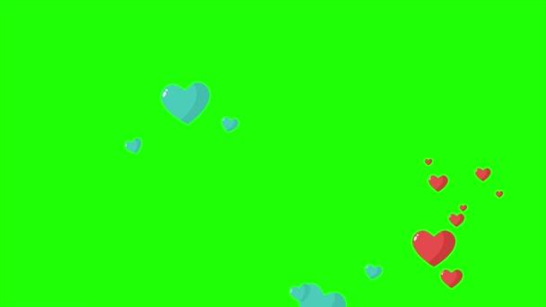 Animation der Liebe mit grünem Bildschirm für Happy Valentine s Day Collection