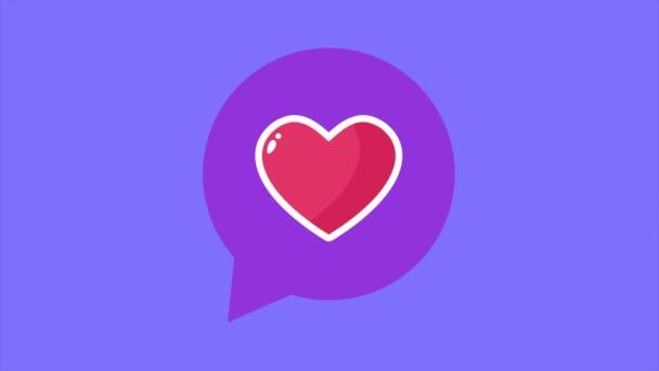 Animace ze srdce. Valentine den kolekce