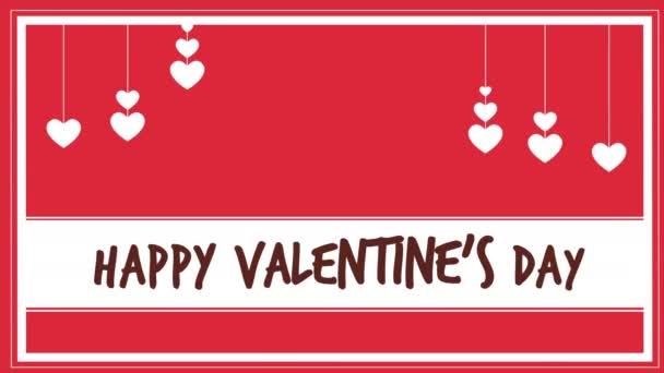 Šťastný valentines day s pohybem láska animace kolekce