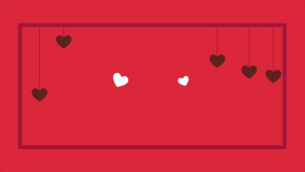 Šťastný Valentines day s srdce animace kolekce