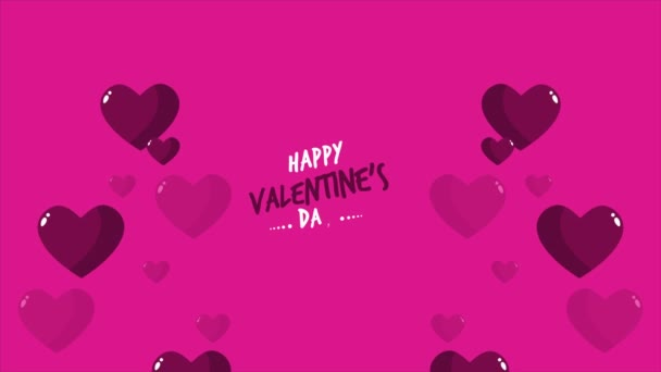 Footage of love with happy valentine day greeting collection