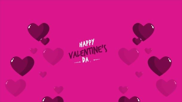 Záběry z lásky s happy valentine den pozdrav kolekce