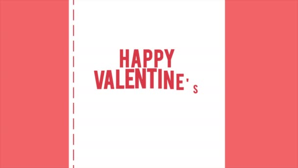 Happy Valentine day with animation envelope and ribbon love collection
