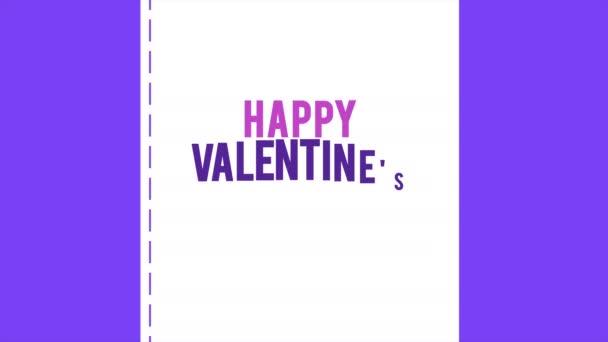 Happy Valentine den s animace obálky a stuha lásky kolekce