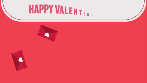 Happy Valentine den s obálka záběry a stuha lásky kolekce