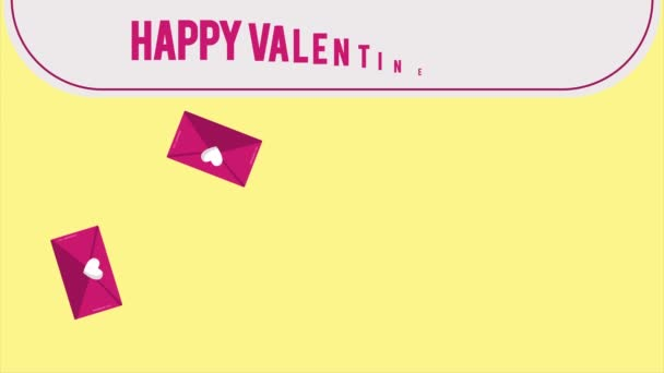 Happy Valentine day with envelope footage and ribbon love collection