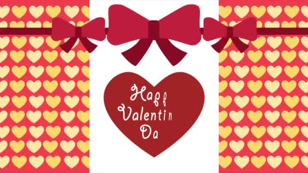 Happy Valentine den s vzor lásky pozadí animace pásu kolekce