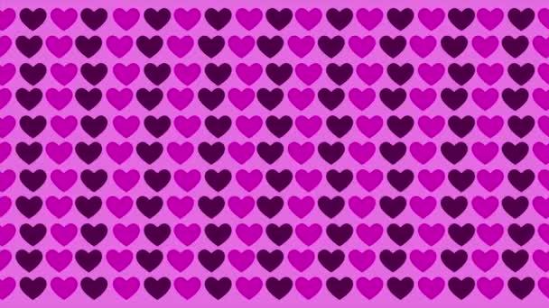 Hintergrund der Animation Liebesmuster. Valentinstag-Kollektion