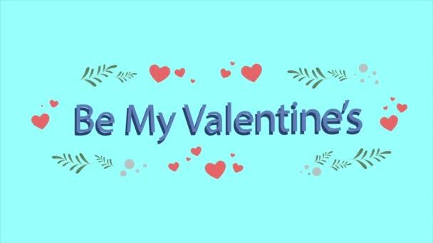 Animace ze srdce a listy pro Valentine den kolekce