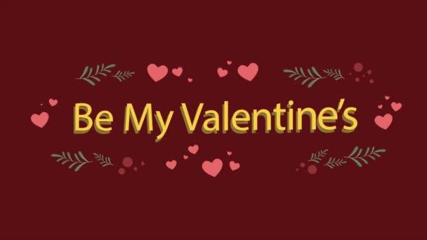 Animation des Herzens und Blatt für Valentine Day Kollektion