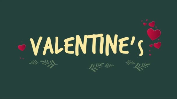 Greeting of Valentine day with animation heart and love collection