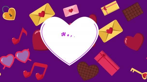 Animáció, szív, csokoládé, boríték, díszdobozok, Valentin napi kollekció