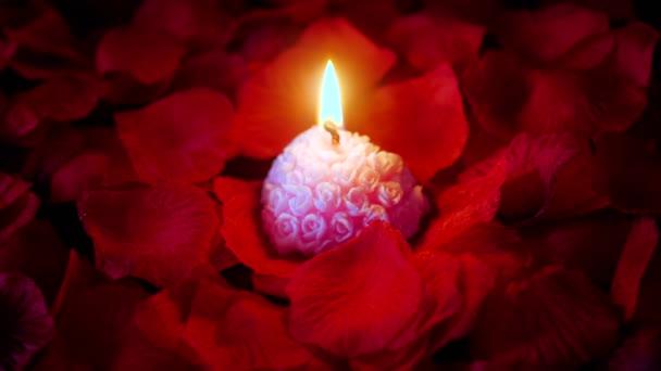 Felvétel, rózsaszirom, Valentin napi kollekció rózsaszín gyertya