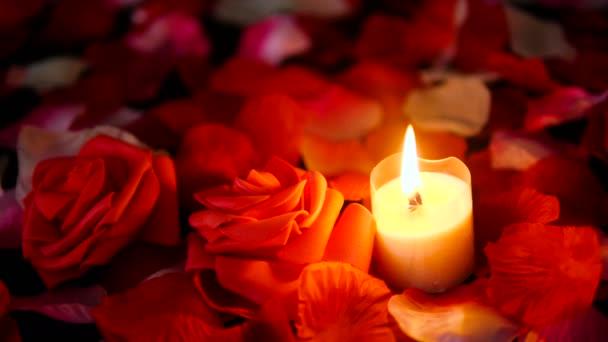 Sprikles Pétalos De Rosa Flor Y Vela Quema Imágenes Colección De Día De San Valentín Decoración