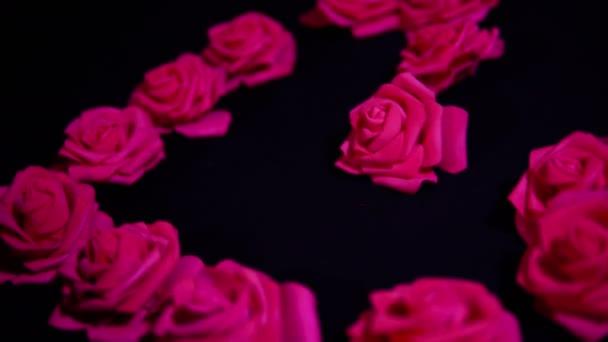 Happy valentine den s záběry roses collection