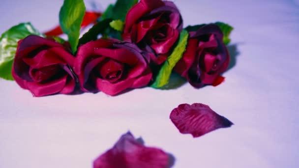 Valentine den se záběry z kolekce růže a lístky