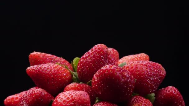 Footage of fresh strawberries fruit collection