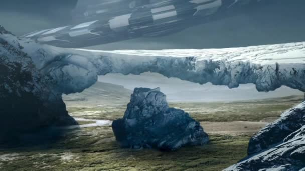 Amazing Fantastic Earth Animation, Fantastic Landscape with UFO