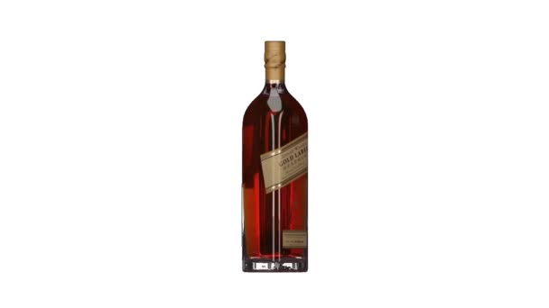 London. England. May 26. 2018. Johnnie Walker Gold Label Reserve. Johnnie Walker Whiskey. Animated bottle and bottles. Rotating bottles. Whiskey bottle animation.
