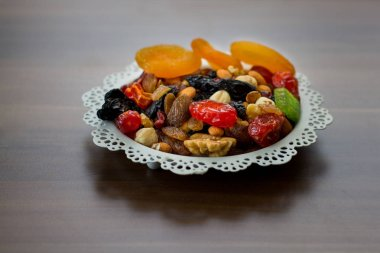 delicious nuts in the plate
