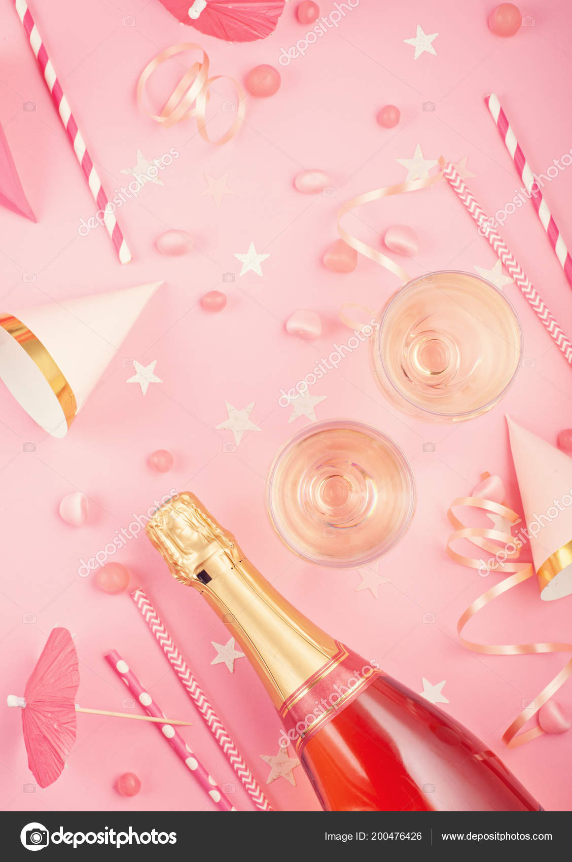 Girls party accessories pink background invitation birthday girls party accessories pink background invitation birthday bachelorette party baby fotografia de stock stopboris Images