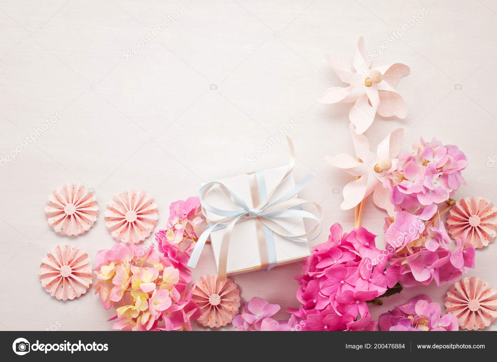 Hortensia Flowers Concept Celebration Greetings Holidays Stock